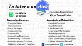 CLASES DE ECONOMÍA, ECONOMETRÍA Y TODAS LAS MATERIAS DE CIENCIAS ECONÓMICAS Y MATEMÁTICAS E INGENIERIAS.