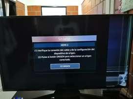 Samsung smart tv 4k serie 7 de 55' pulgadas con fallo en la pantalla