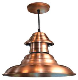 Lámpara de techo Colgante de chapa 3 piezas campana