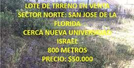 EN VENTA TERRENO: SAN VICENTE LA FLORIDA