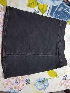 falda de jean strech