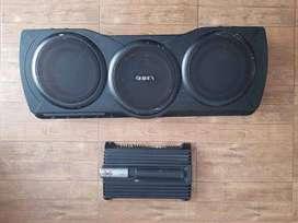 Remato Sony Xplod xm-zr604 Power Amplifier + Center Speaker Infinity