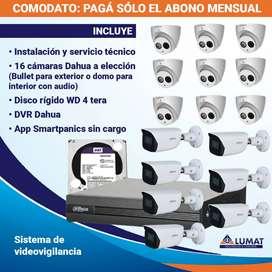 Kit De 16 Cámaras De Seguridad En Comodato - Instalado