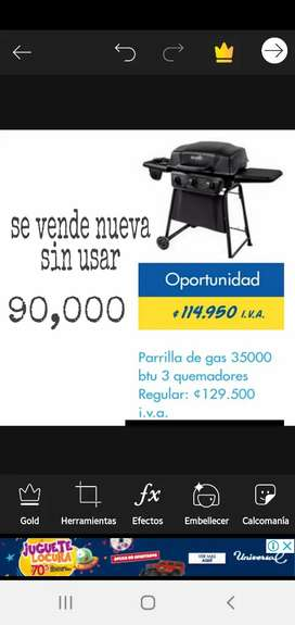 Se vende parrilla de gas