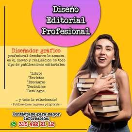 DISEÑO Y DIAGRAMACIÓN DE PUBLICACIONES - LIBROS, REVISTAS, PERIÓDICOS, BROCHURES...