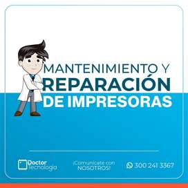 MANTENIMIENTO Y REPARACIÓN DE  IMPRESORAS, TAMBIEN A DOMICILIO.