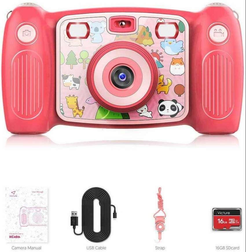 Cámara fotografía para niños ViCTURE con vídeo profesional de 1080p e imagen 12MP, función anti vibración incorporada 0