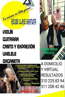Clases,Cursos,Guitarra,Organeta,Violin,Canto