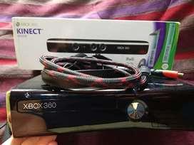 Xbox 360 en perfecto estado con Kinect, juegos y 1 control