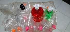 Frascos plásticos con dispensador