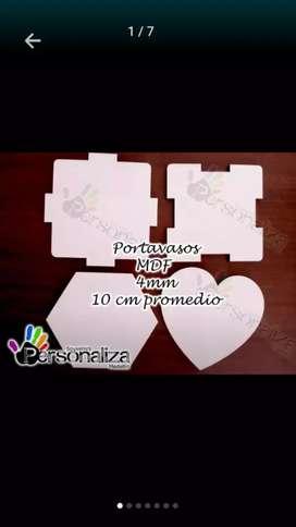 Portavasos x4. en MDF insumo sublimación Medellín