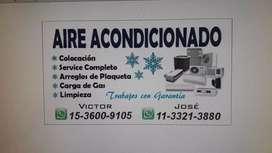 Se vende y se reparan aires acondicionado service