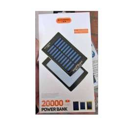 Banco De Carga PoerBank Solar De 20.000 MAH