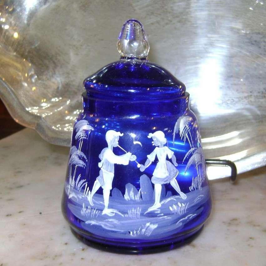 Hermoso potiche cristal Sent Murano estilo Mary Gregory / Maxim Nord 0