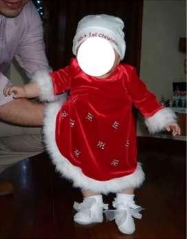 Vestidos Para Niña Bebe Marca Bonnie Baby  Talla 12 meses