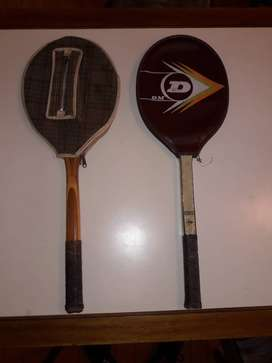 Raquetas de Madera Dunlop y Beliz de Colección