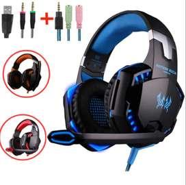 Audífonos Auriculares Diadema Led De Gamer G2000 Micrófono