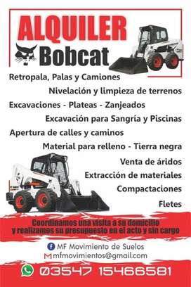 Movimiento de Suelo. Alquiler de Bobcat
