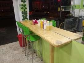 Mobiliario para negocio de comidas