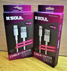 Cable iphone 2 mtrs SOUL Ipad