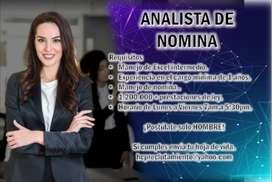 ANALISTA DE NOMINA