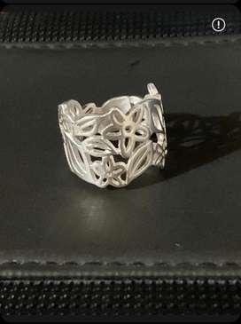 3 anillos de plata