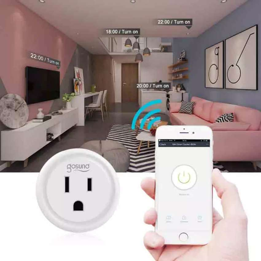 Enchufe interruptor inteligente WiFi Prender Alexa Google Foco Electrodomesticos Smart Gosund 0