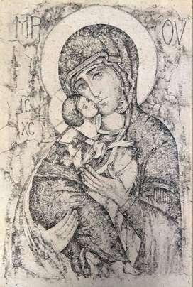 En venta esta bellísima obra hecha a mano: Virgen de Vladimir