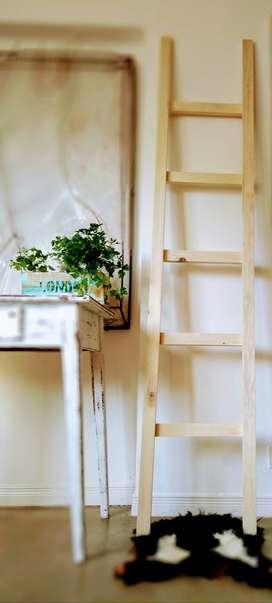 Escalera Perchero Madera Decorativa