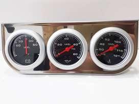 Kit 3 Relojes Amperimetro Aceite Temperatura