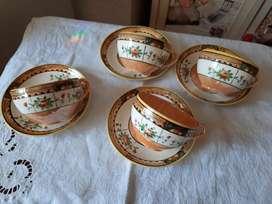 4 tazas de té japonesas