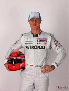 Casco ,kart,coleccion F1 Formula 1 M Schumacher Replica