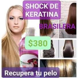 Shock de keratina Brasilera liquido