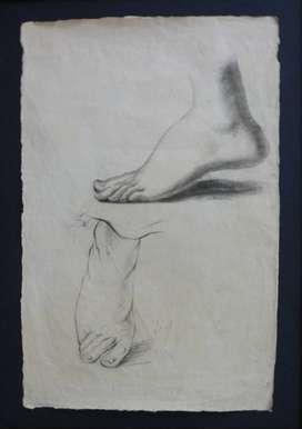 Dibujo de pies del Maestro Francisco Antonio Cano