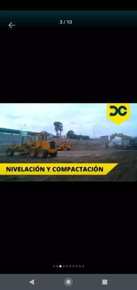 Alquiler de motoniveladora demoliciones excavaciones Afirmado arena gruesa piedra Chancada eliminación desmonte bobcat