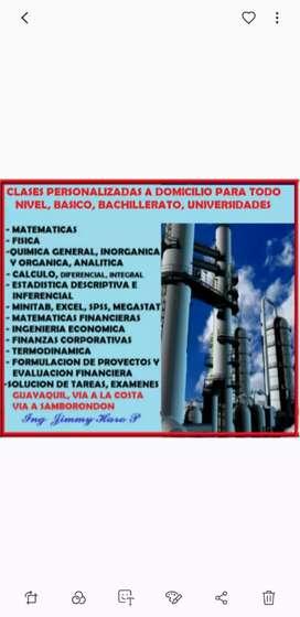 TUTORIAS PROFESIONALES A DOMICILIO DE QUIMICA, FISICA, MATEMATICAS, EXAMENES QUIMESTRALES, SUPLETORIOS, TAREAS, EXAMENES