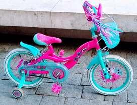 Bicicleta para niña seminueva aro #16