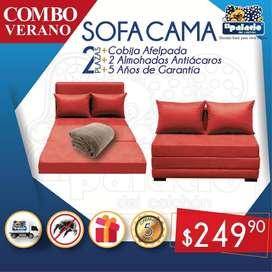 !!*OFERTAS*!! Sofacamas Sofa Camas 2 PLAZAS mas Cojines Decorativos mas Entrega mas Cobija Afelpada !! LLAME YA !!