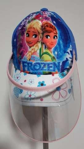 Gorra con careta antifluido niños