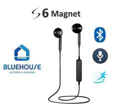 Auricular Bluetooth Deporte In Ear S6 Magnet Manos Libres