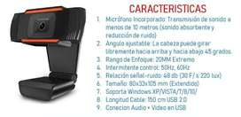 WEBCAM FULL HD 1080P CAMARA WEB + MICROFONO