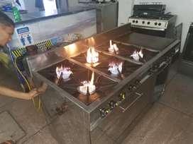 cocina industrial de 6 fogones