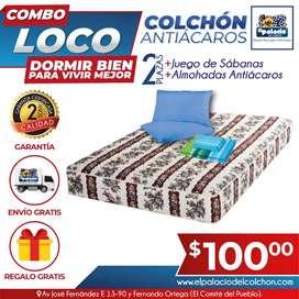 """*""""*OFERTAS*""""* CAMAS DE MADERA / CAMAS LITERAS / CAMAS BASES / COLCHONES / COLCHONETAS / **Llame EL PALACIO DEL COLCHÓN**"""