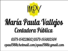 CONTADORA PÚBLICA, ESTUDIO CONTABLE, ASESORAMIENTO IMPOSITIVO, CONTABLE, LABORAL, SOCIETARIO, ETC.