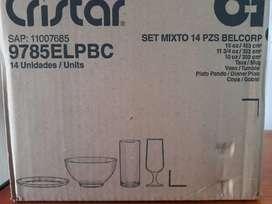 Set cristal 14 piezas