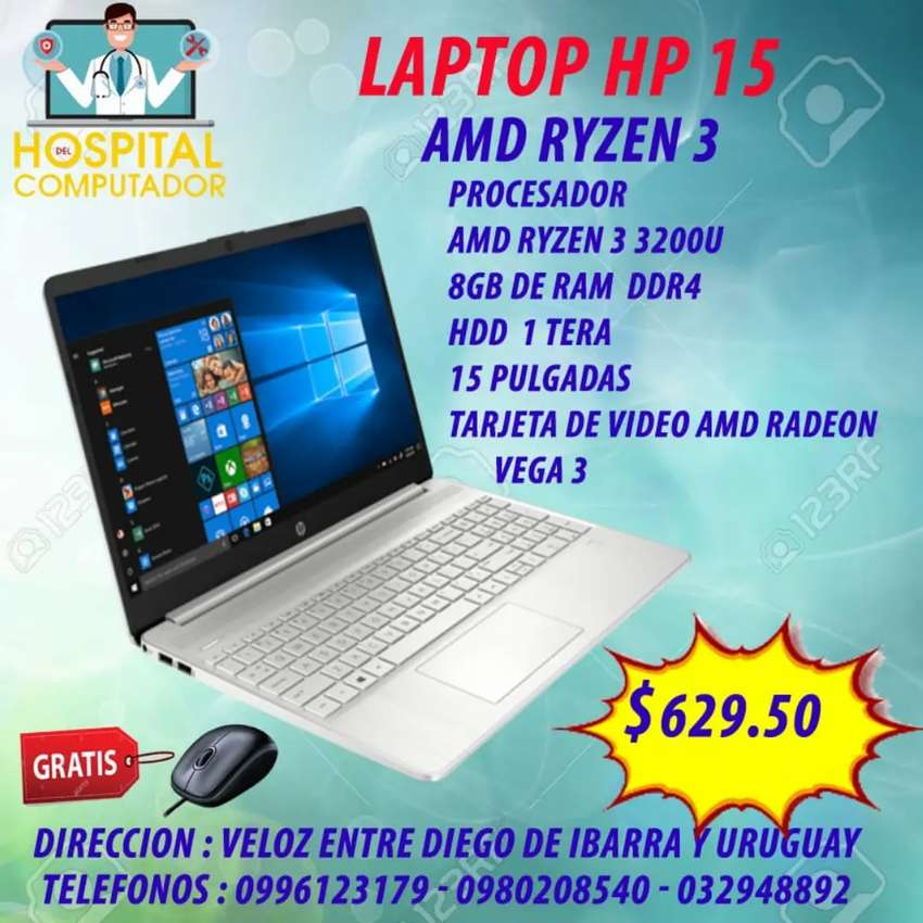 Laptop Hp AMD Ryzen 3 0