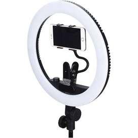 Aro de luz con soporte para teléfono Yongnuo YN408 Bicolor LED