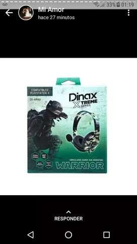 Auriculares dinax gamer pc/play4