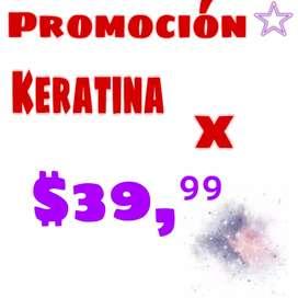 Keratina de promoción