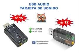 USB AUDIO - TARJETA DE SONIDO